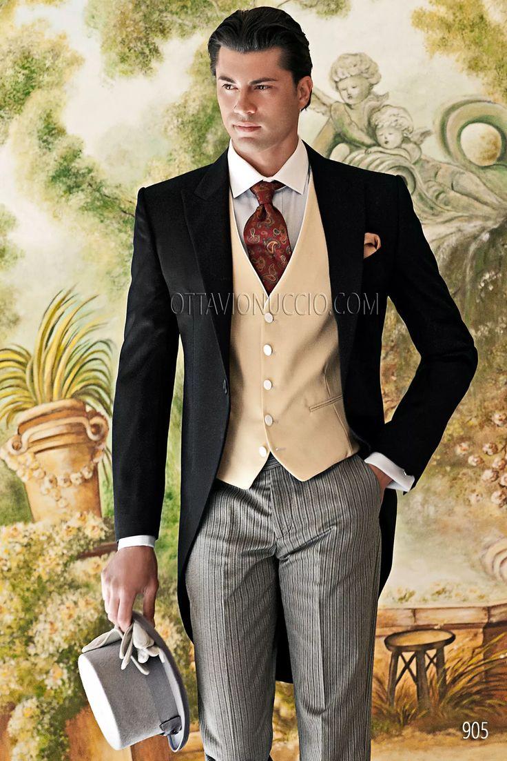 花嫁もうっとりしちゃう?結婚式、花婿さんの参考にしたいモーニングのイメージ。 ウェディング・ブライダルの参考に