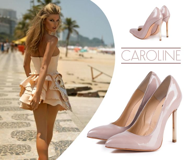Luxury shoes with high heels and natural leather in nude shades @jo