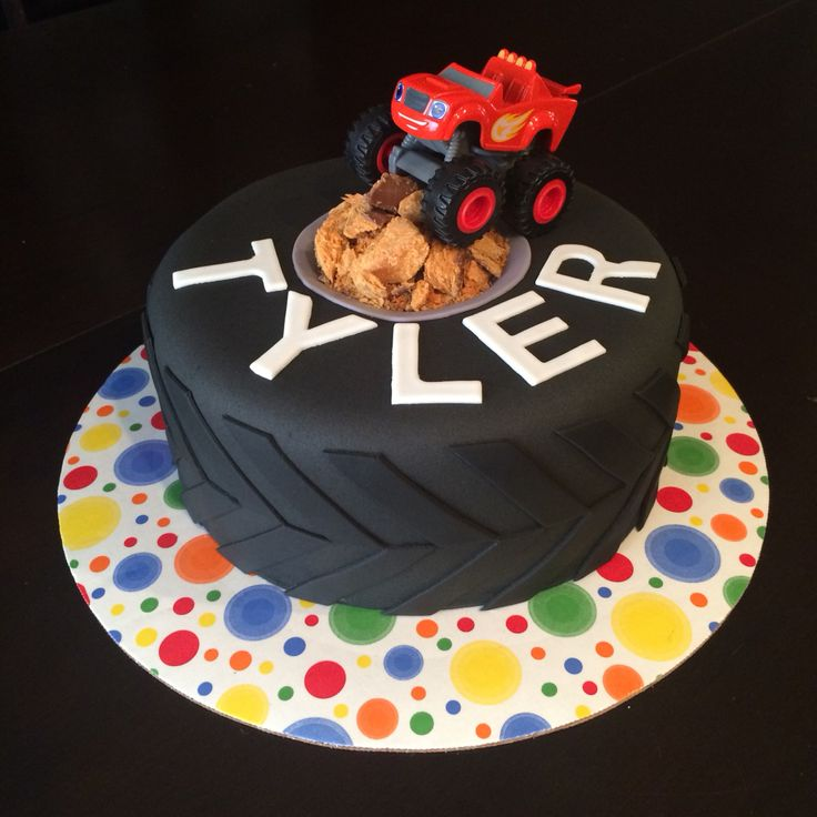 Monster Truck Cake Tire Cake Blaze Cake Made By