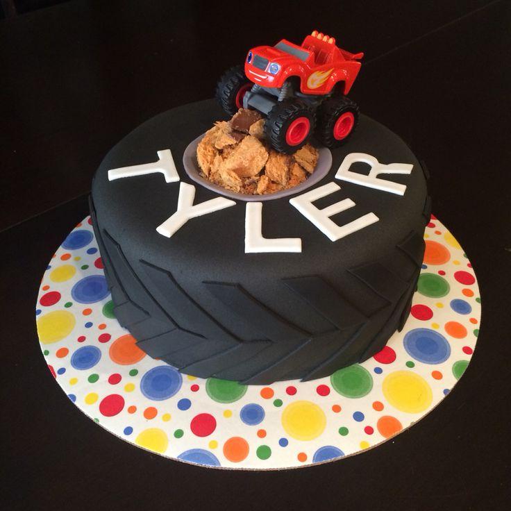 Monster truck cake. Tire cake. Blaze cake.