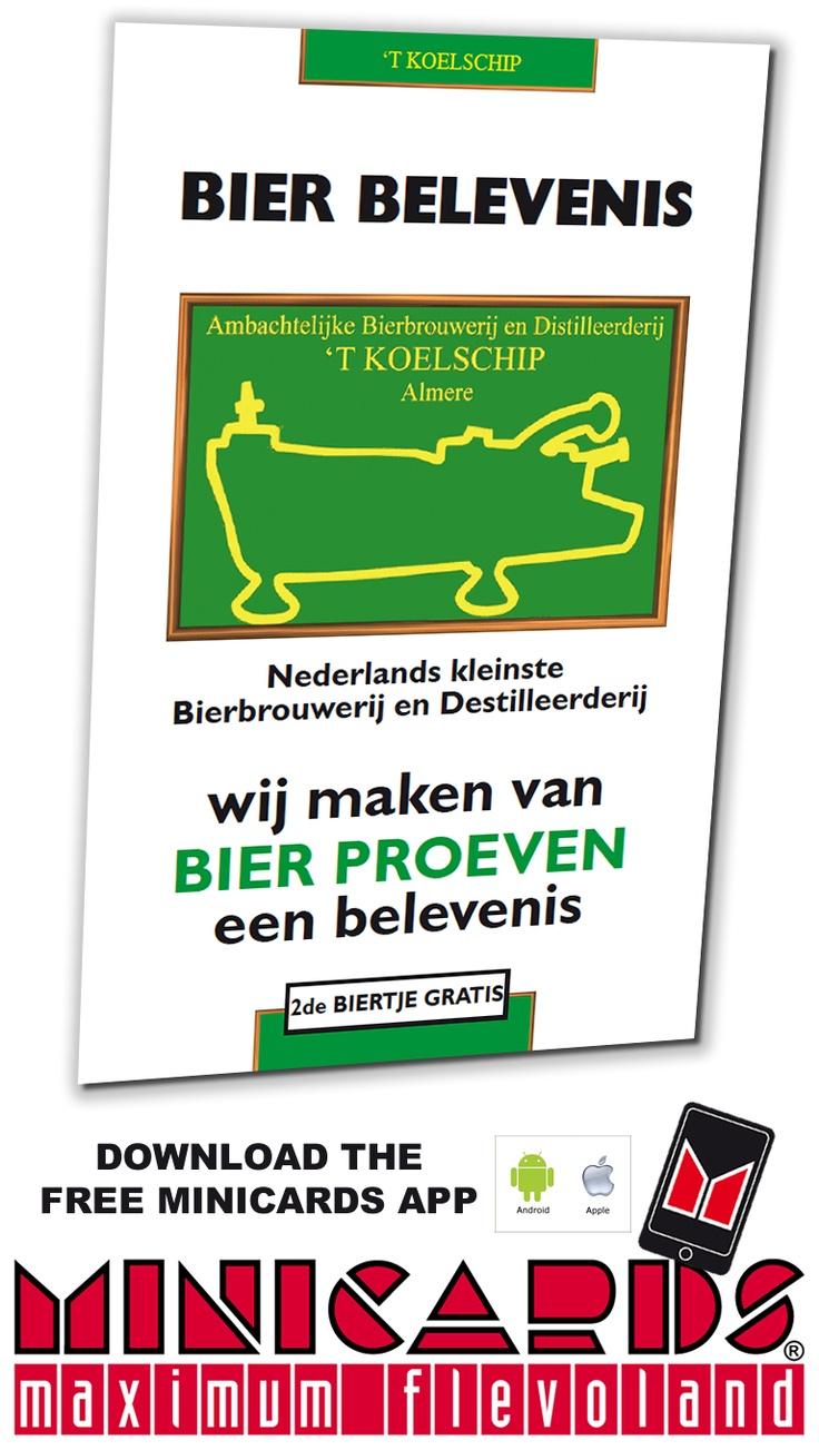 Bierbelevenis Bierbrouwerij 't Koelschip  op de Minicard