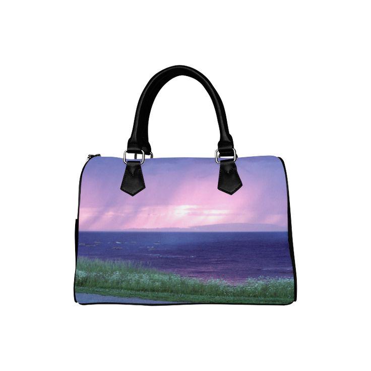 Purple Rain Boston Handbag (Model 1621)