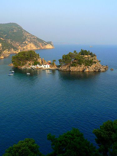 Small island of Panagias, Parga, Greece