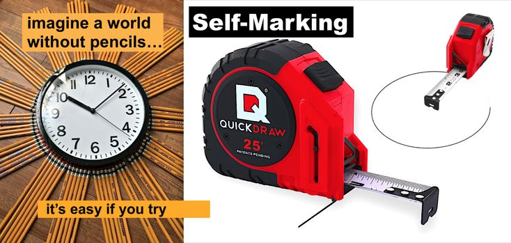25' Foot QUICKDRAW Marking Tape Measure (PRO model) Tape
