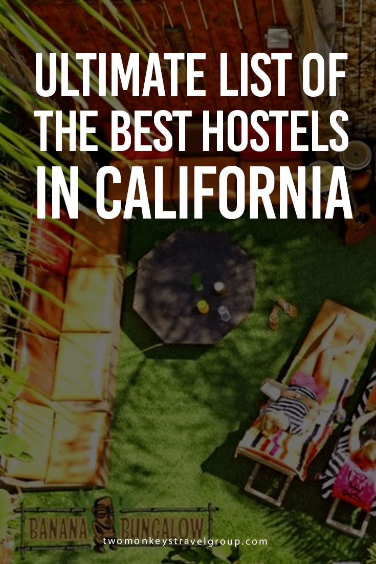 Ultimate List of the Best Hostels in California Here is the ultimate list of the BEST HOSTELS IN CALIFORNIA in one easy to read space, with locations, reviews, and prices for each city listed. Here you will find the Best hostels in San Francisco; Best hostels in Los Angeles; Best hostels in San Diego; and Best hostels in Sacramento.