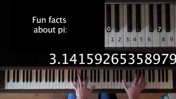 π Piyano ile Pi Sayısı Müziği - Pi Song Piano - Matematikciler.Org