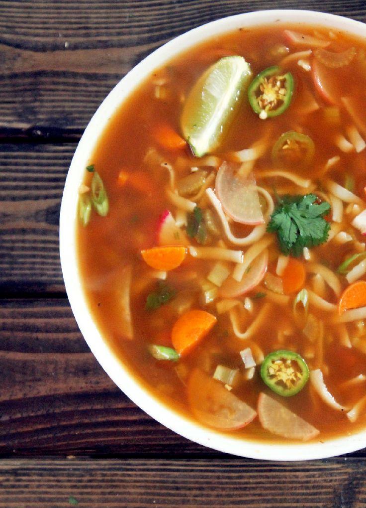 Not Quite a Vegan...?: Fat Burning Spicy Thai Noodle Soup