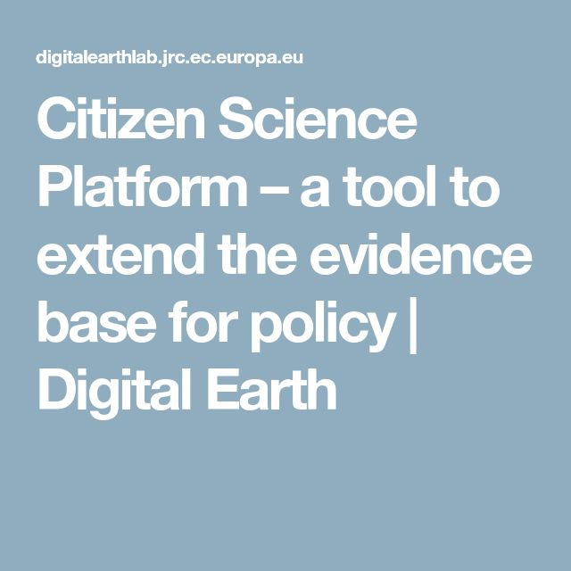 Citizen Science Platform – a tool to extend the evidence base for policy | Digital Earth