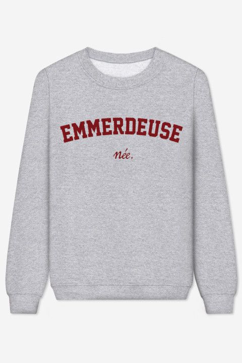 Rad | Sweater Emmerdeuse Née – brodé - LES EMMERDEUSES