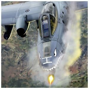 """A-10 Thunderbolt II, this unique aircraft is known as the """"Warthog"""""""