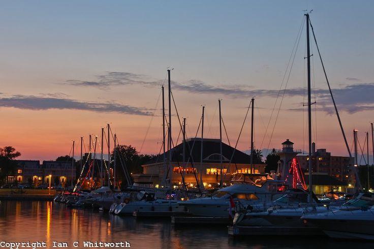 Oakville Bronte Harbour Marina at Sunset