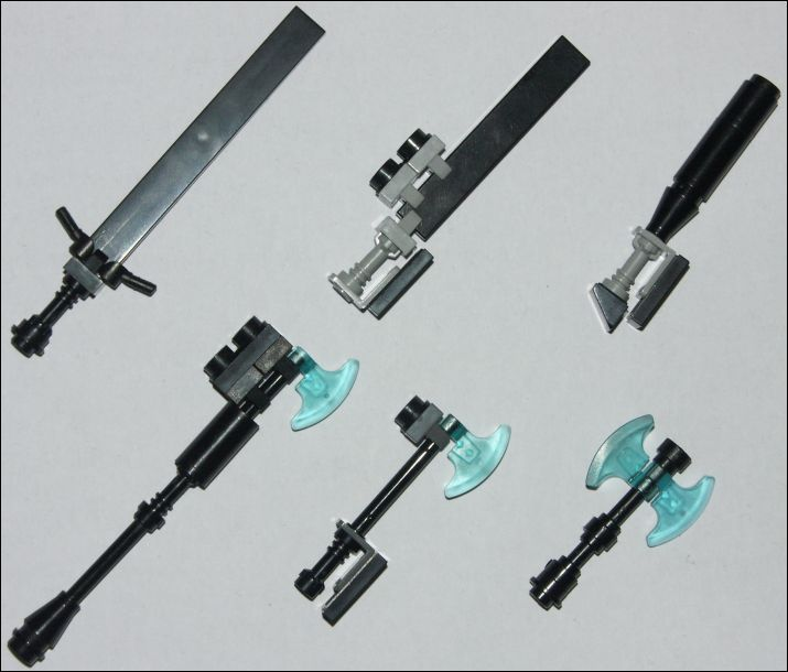 LEGO melee weapons