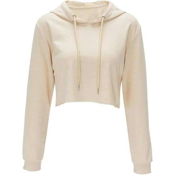 Bali Halif Belly Apricot Sweatshirt ($25) ❤ liked on Polyvore featuring tops, hoodies, sweatshirts, white tops and white sweatshirt