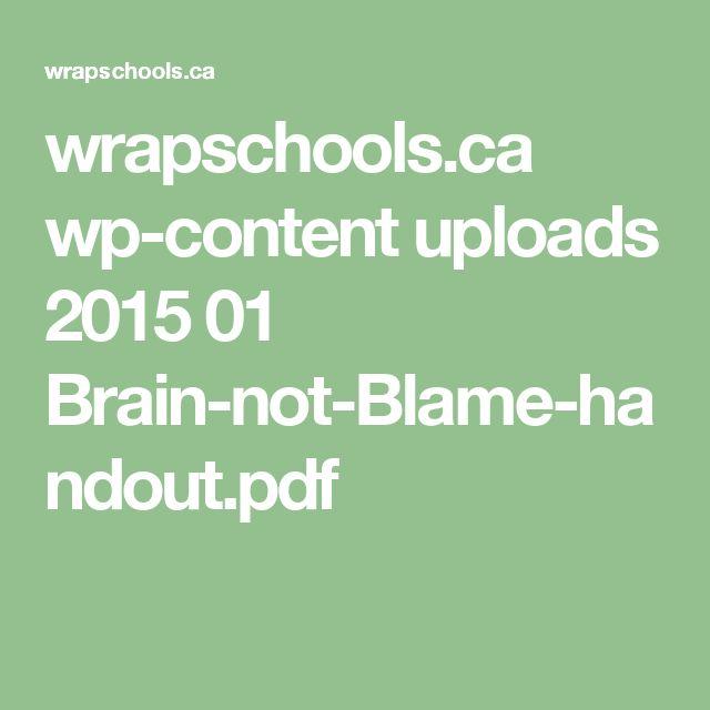wrapschools.ca wp-content uploads 2015 01 Brain-not-Blame-handout.pdf