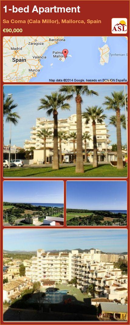 1-bed Apartment in Sa Coma (Cala Millor), Mallorca, Spain ►€90,000 #PropertyForSaleInSpain