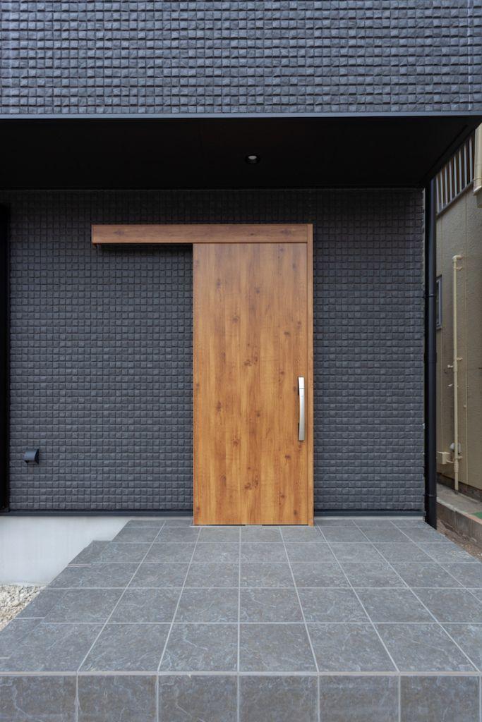 エクステリア 玄関ドア 引き戸 木製 注文住宅 自由設計 屋上庭園