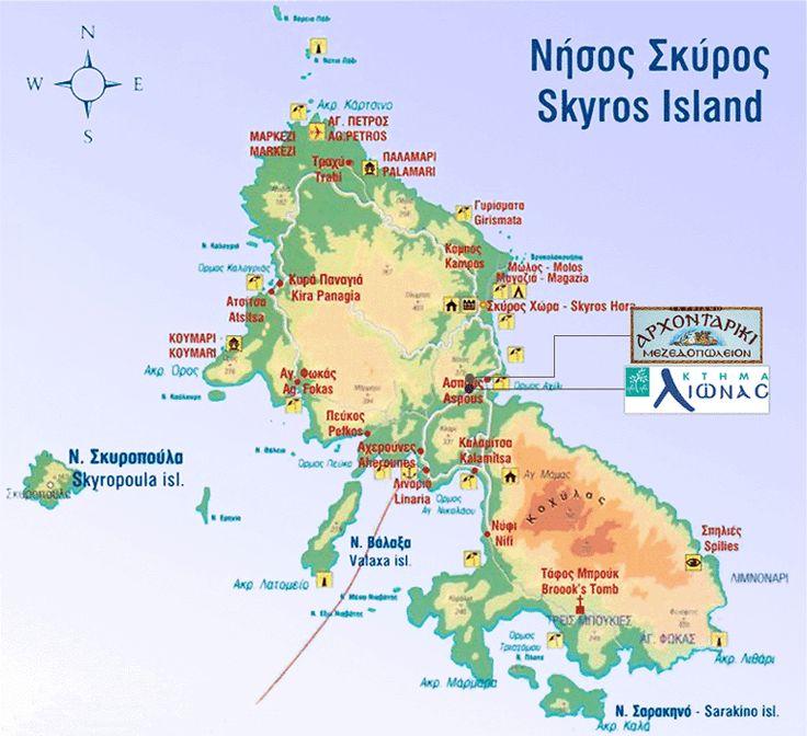 Map of Skyros