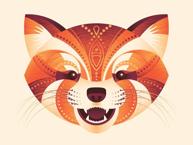 Red Panda by Julia Williams #Design Popular #Dribbble #shots