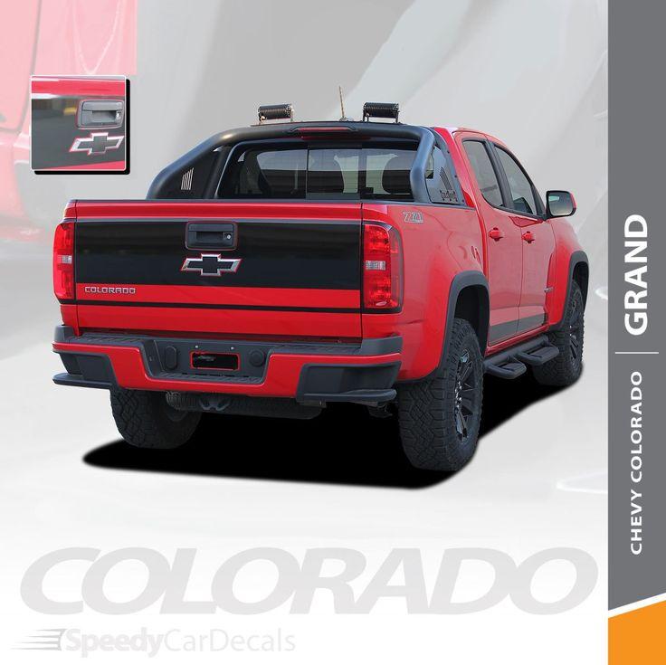 Blue Zr2 Colorado: Chevy Colorado Decals Rear Stickers GRAND TAILGATE Stripe