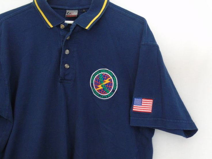 OPERATION ENDURING FREEDOM Justice Let's Roll Embroidered POLO SHIRT Men's L