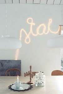 rope light wall art:
