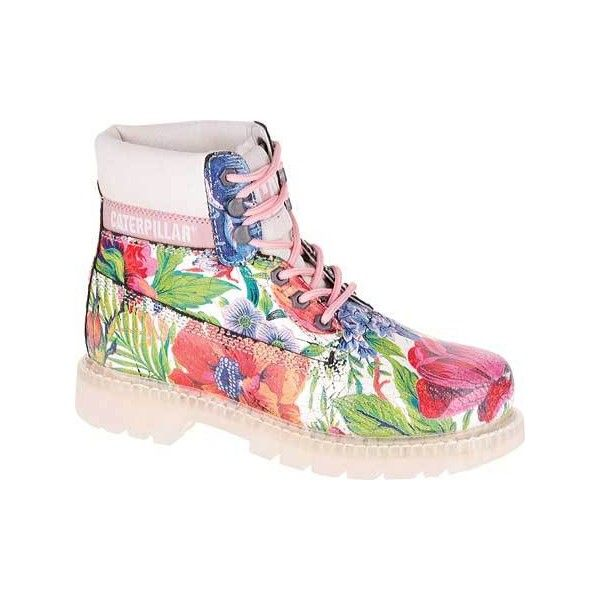 Womens Caterpillar CAT Colorado Flowers Boot  Pink Printed Suede  160