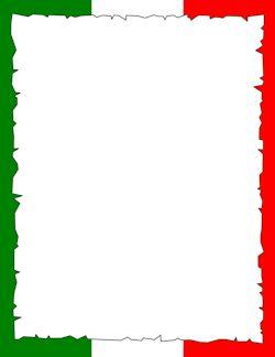 El lehet ezt fordítani... :) Italian Flag Border
