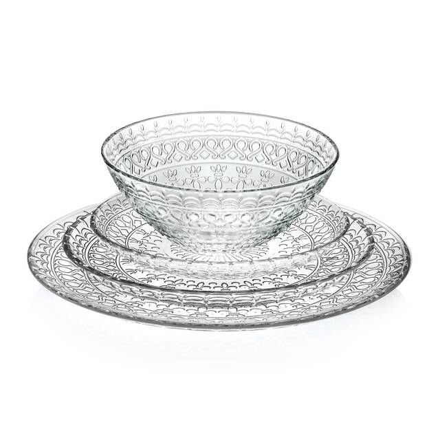 Lorren Home Trends Medici Crystal Dinnerware Collection