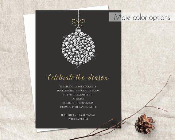 Holiday Party Invitation Template Corporate Business Employee