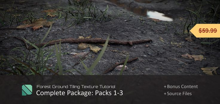 """We will be creating a tiling ground texture from start to finish and by the end of the tutorial, you will know how to create textures similar to the images above! Thanks for the support :). The Complete Package includes: - 3 Bonus Videos for extra learning! - The finished TGA/PSD files. - Includes all Parts, Videos, and Files from Packs 1 - 3 as well as the """"Intro to Zbrush"""" Tutorial. Please watch the introduction youtube video for a quick preview of the tutorial…"""