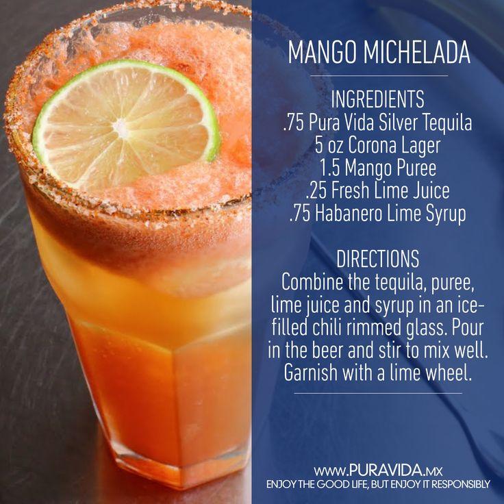 Yummy #Mango #Michelada #cocktail #recipe to savor summer with