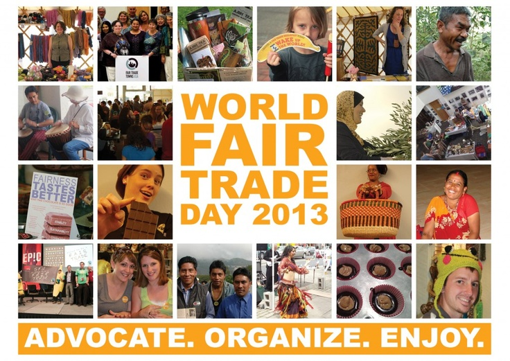 World Fair Trade Day is Sat., May 11.  If you're planning an event in your community, the Fair Trade Resource Network is a great resource.  Monthly News Summary