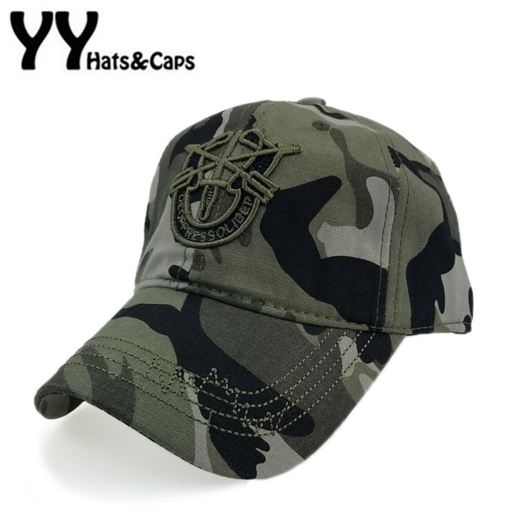 Men Tactical Army Baseball Caps Cotton Special forces Hat Women Navy Seal Army Camo Cap Fitted Snapback Camouflage Gorra YY17198