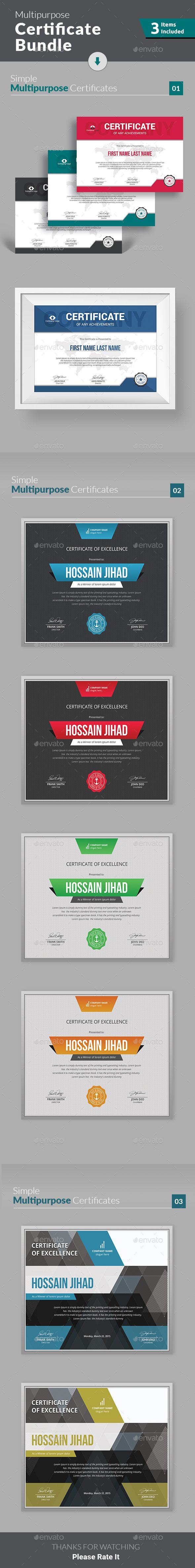 Print Ready Certificate Design Templates https://graphicriver.net/item/certificate/19284705?ref=themedevisers