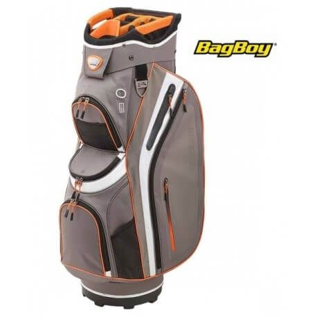BagBoy Cartbag Premier Pro 2016 Charcoal Orange