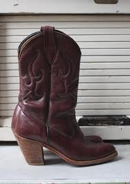 Vintage High Heeled Boots. I have a pair that I painted the details with red acrylic.