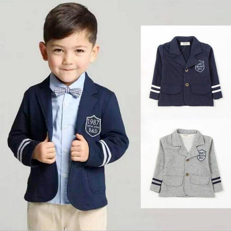 Kids Suits Boys School Uniform Outerwear Clothes Child Leisure Coat 100% Cotton Children Clothing  Gentleman Jackets For Boy