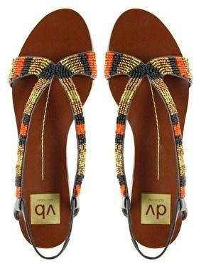 Find Black Leather Flat Pearl Sandal In Zara Shoes