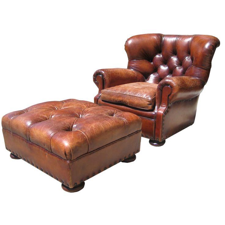Vintage Ralph Lauren Writeru0027s Chair And Ottoman