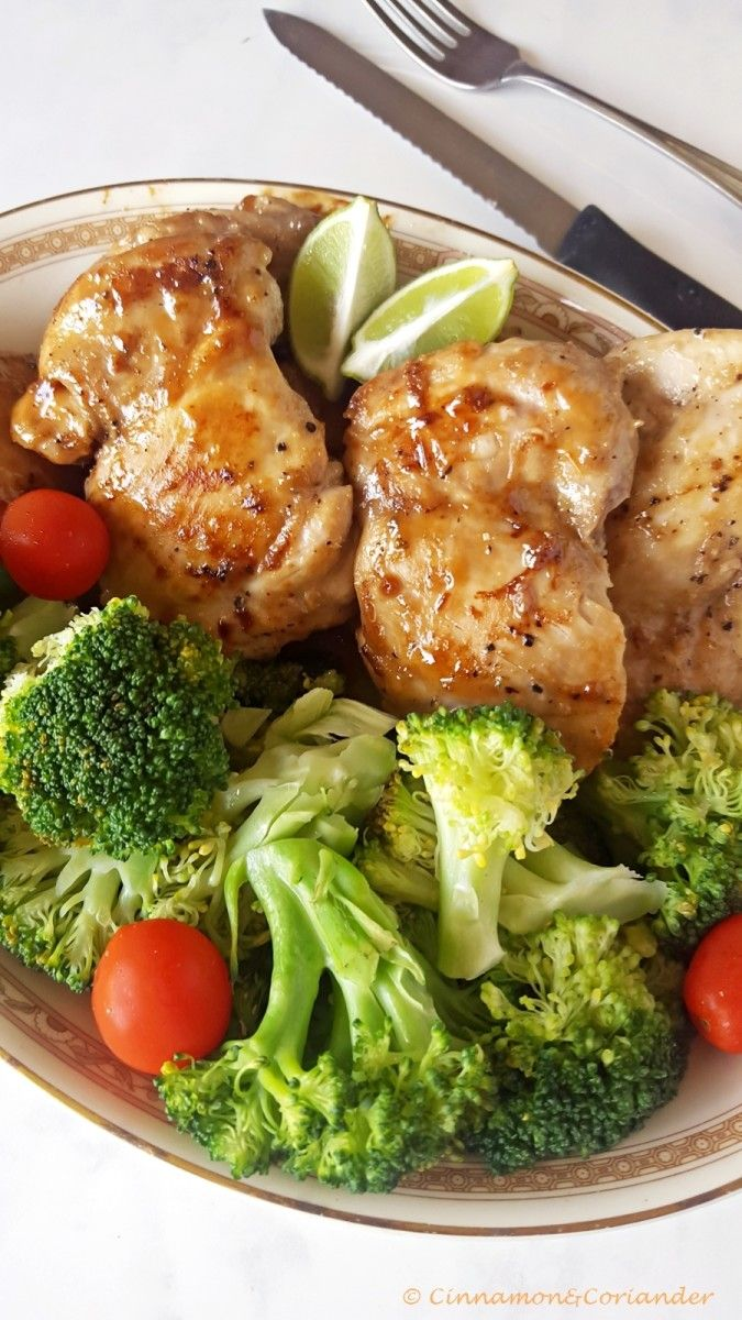 Sticky Maple, Lime & Ginger Chicken Thighs