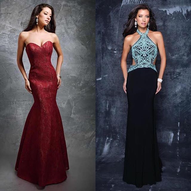 Just dropped some @ninacanacci NEWNESS on LendingLuxury.com 🔥Link in bio to shop! #LUXweLOVE Mermaid gown, red mermaid gown, red prom dress, rent prom dress, strapless prom dress, lace prom dress, blue prom dress, black prom dress,  halter dress, beaded prom dress, rent prom gown, Nina Canacci