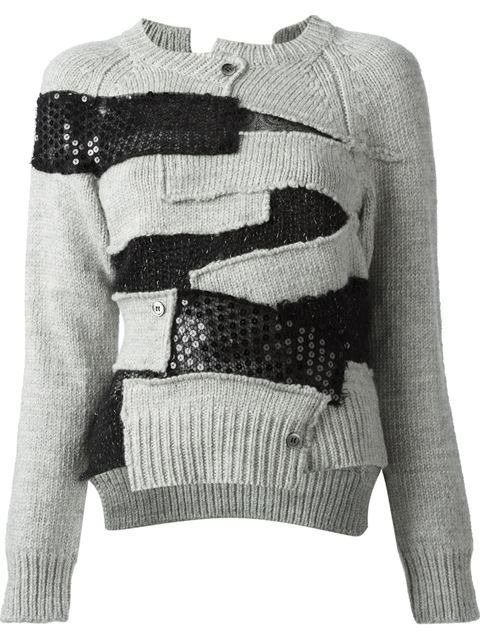 Shop Junya Watanabe Comme Des Garçons asymmetric patchwork cardigan in RESTIR from the world's best independent boutiques at farfetch.com. Over 1000 designers from 60 boutiques in one website.