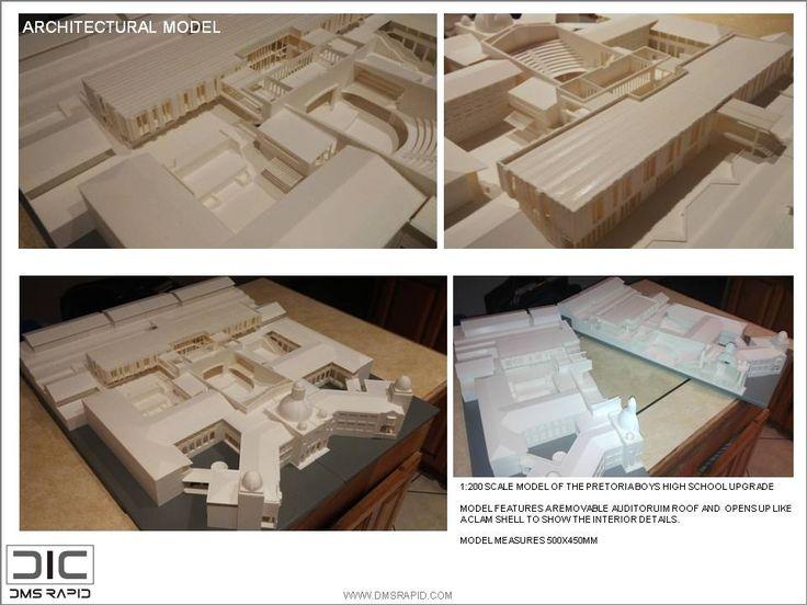 1:200 Scale Pretoria Boys High School Upgrade 3D Print Model