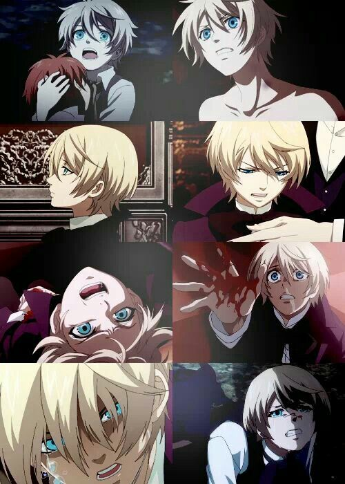 Black butler / kuroshitsuji.  I must admit, I didn't like Alois at first, but then I realized how depressing his story was.