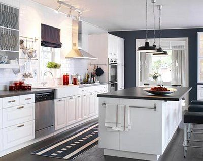 Black Kitchen Walls White Cabinets 32 best white cabinets dark blue accents images on pinterest