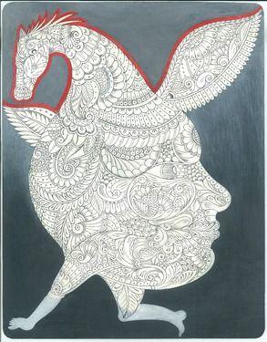 "Saatchi Online Artist Bajrang Suthar; Painting, ""Imagination "" #art"