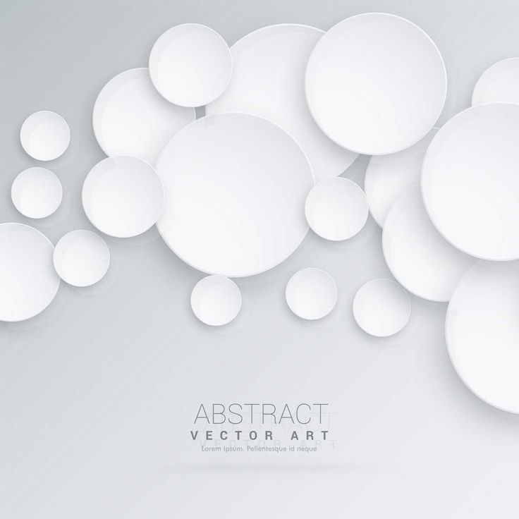 3d Background With White Circles - FREE