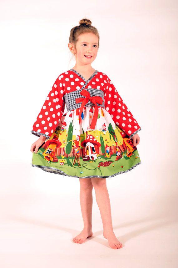 Girl's Kimono Dress Girl Dresses Children by HarmonyGirlsClothing, $55.00