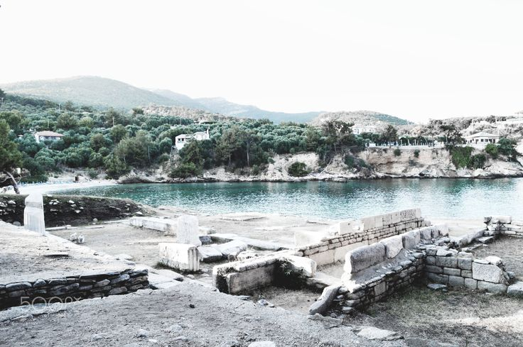 Sanctuary - The photo was taken at the ancient temple dedicated to Dioskouroi Brothers in Aliki Beach, Thasos Island (Greece).