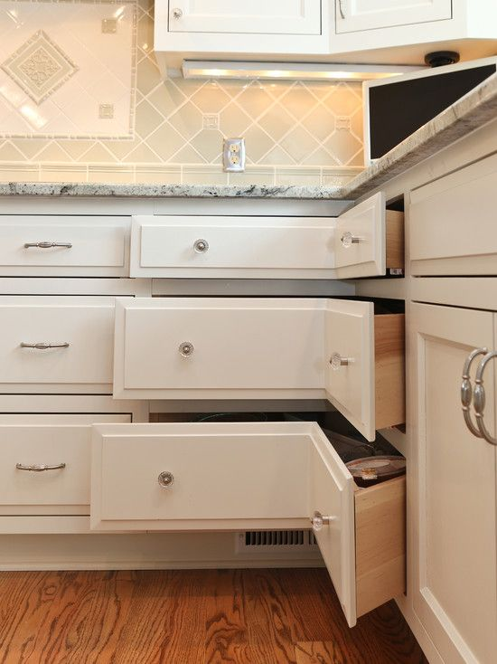kitchen remodels i would totally do this before doing a lazy susan corner cabinet again - Kitchen Corner Ideas